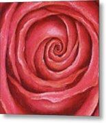 Red Rose Pastel Painting Metal Print