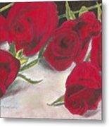 Red Rose Redux Metal Print