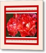 Red Rose With A Whisper Of Yellow And Design Metal Print