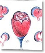 Red Rose- With Love  Metal Print