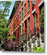 Red Row Houses Metal Print