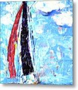 Red Sail Metal Print