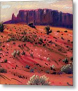 Red Sand Metal Print