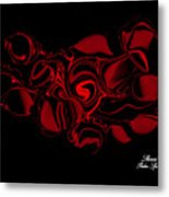 Red Satin Metal Print
