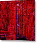 Red Scaffold Metal Print
