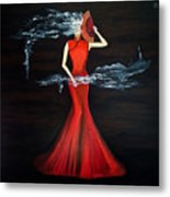 Scented Red Color Metal Print
