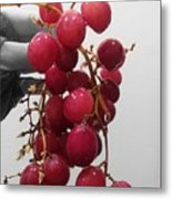Red Seedless Grape Cluster Metal Print