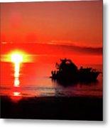 Red Silhouette Metal Print