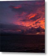 Red Skies At Night Hawaii Metal Print