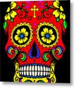 Red Skull Metal Print