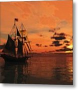 Red Sky At Night Metal Print by Timothy McPherson