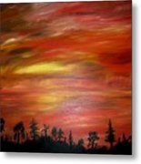 Red Sky Delight Metal Print