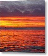 Red Sky In Morning, Sailor's Warning Metal Print