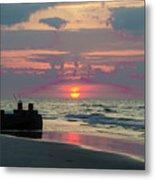 Red Sky Sun Rise Metal Print