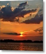 Red Sky Sunset Metal Print