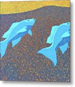 Red Snapper Inlay On Alabama Welcome Center Floor - Color Invert Metal Print