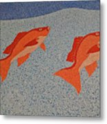 Red Snapper Inlay On Alabama Welcome Center Floor Metal Print