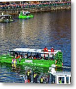Red Sox On The Charles Metal Print