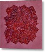 Red Spiral Metal Print