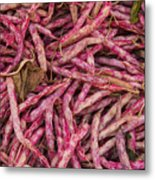 Red Spotted Pearly Beans Metal Print