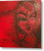 Red Stain Metal Print
