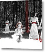 Red Stains - Self Portrait Metal Print
