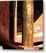 Red Steel Metal Print