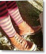 Red Stockings Metal Print