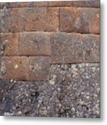 Red Stone Bricks Metal Print