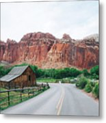 Red Stone Mountain  Metal Print