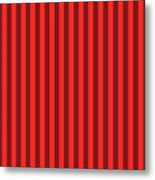 Red Striped Pattern Design Metal Print