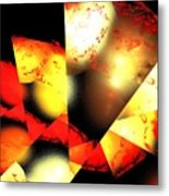 Red Sun Shell Metal Print
