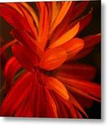 Red Sunflower 1 Metal Print