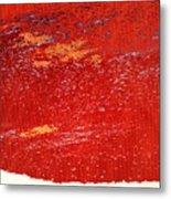 Red Surf On The Beach Metal Print