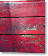 Red Table Metal Print
