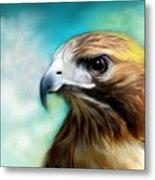 Red Tail Hawk  Metal Print by Crispin  Delgado