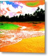 Red Tide Green Tide Metal Print