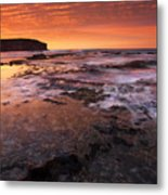 Red Tides Metal Print
