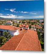 Red Tile Roofs Of Santa Barbara California Metal Print
