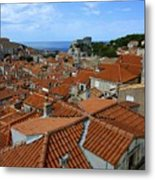 Red Tiled Roofs Of Dubrovnik Metal Print