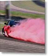 Red To Pink - Drifter Metal Print
