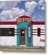 Red Top Diner On Route 66 Metal Print