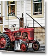 Red Tracktor Metal Print