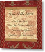 Red Traditional Fruit Of The Spirit Metal Print by Debbie DeWitt