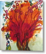 Red Tree And Friends Metal Print