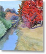 Red Tree and River Metal Print