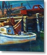 Red Truck On Old Morro Bay Pier Metal Print