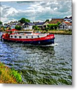 Red Tug Boat Metal Print