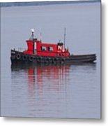 Red Tug On Lake Superior Metal Print