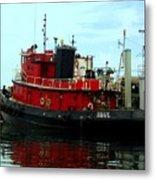 Red Tugboat Metal Print